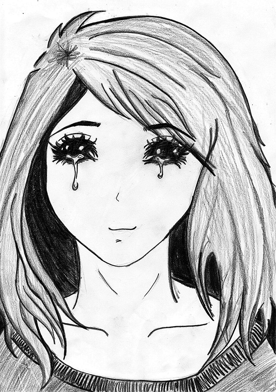 How To Draw Anime Girl Eyes Crying