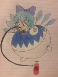 Cirno inflated by Krool2Kool