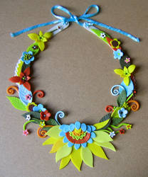 flower necklace by Meeellla