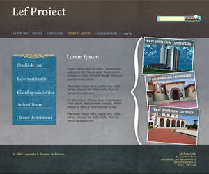 website layout proposal
