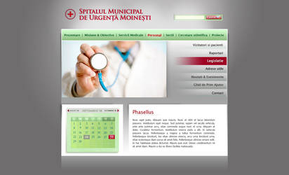 Small Hospital website proposa by marame