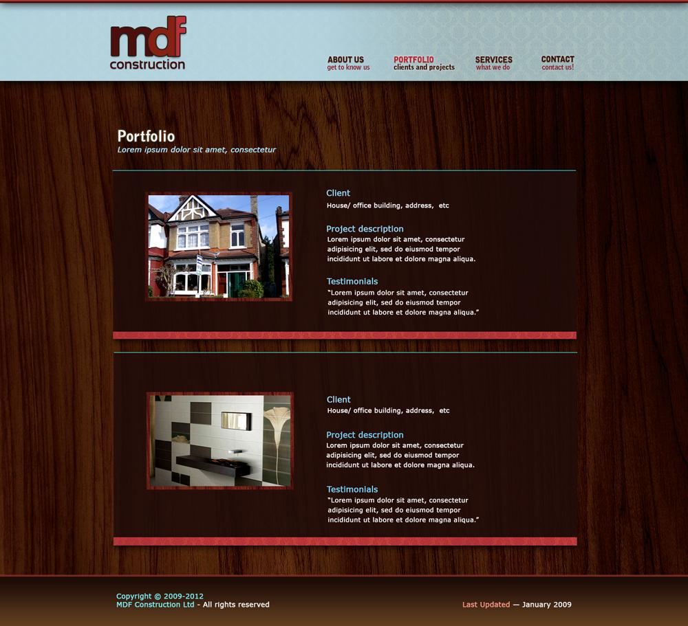 Portfolio page - MDF website by marame