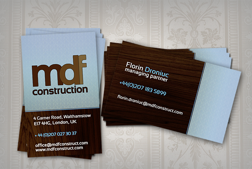 MDF Construction business card by marame