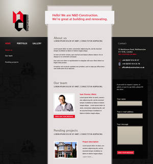 N and D Construction homepage