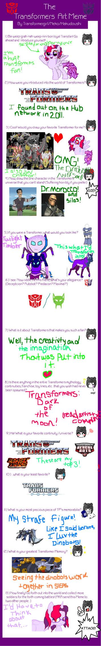 Transformers Art Meme by Transformergirl