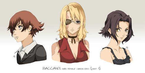 BACCANO characters part 1 by NicoleCover
