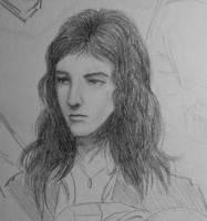 John Deacon Sketch by MercuryDeacon