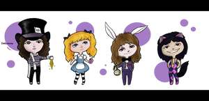 Roger in Wonderland Chibis