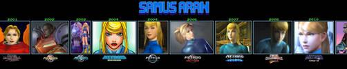 Samus Aran Through The Years (1986-2017) by s3k94
