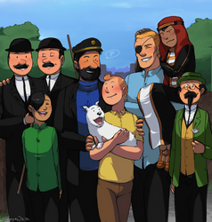 Tintin - Avec vous, mes amis by Atlas-White