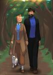 Tintin - Dans le bois
