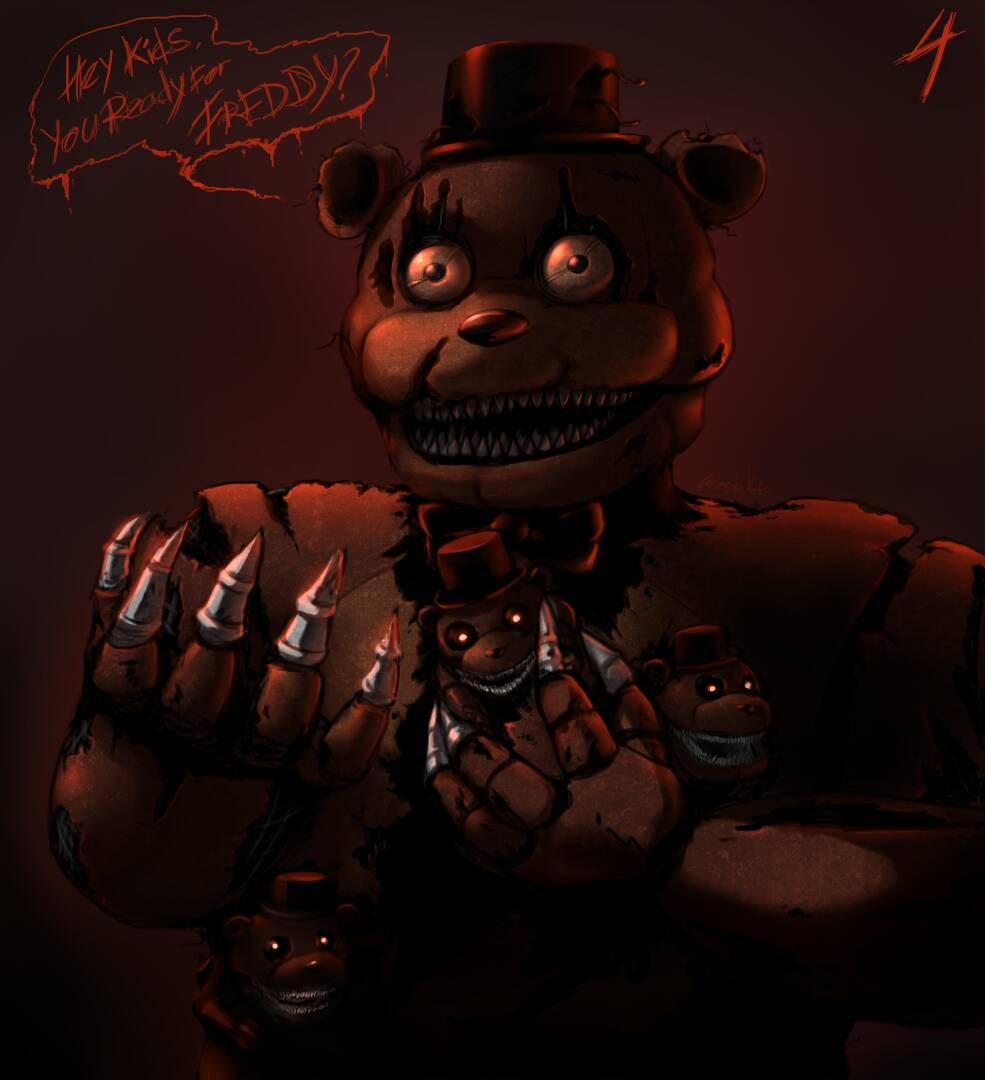 Spookys house of jumpscare e621 - Fred Bear Nightmare