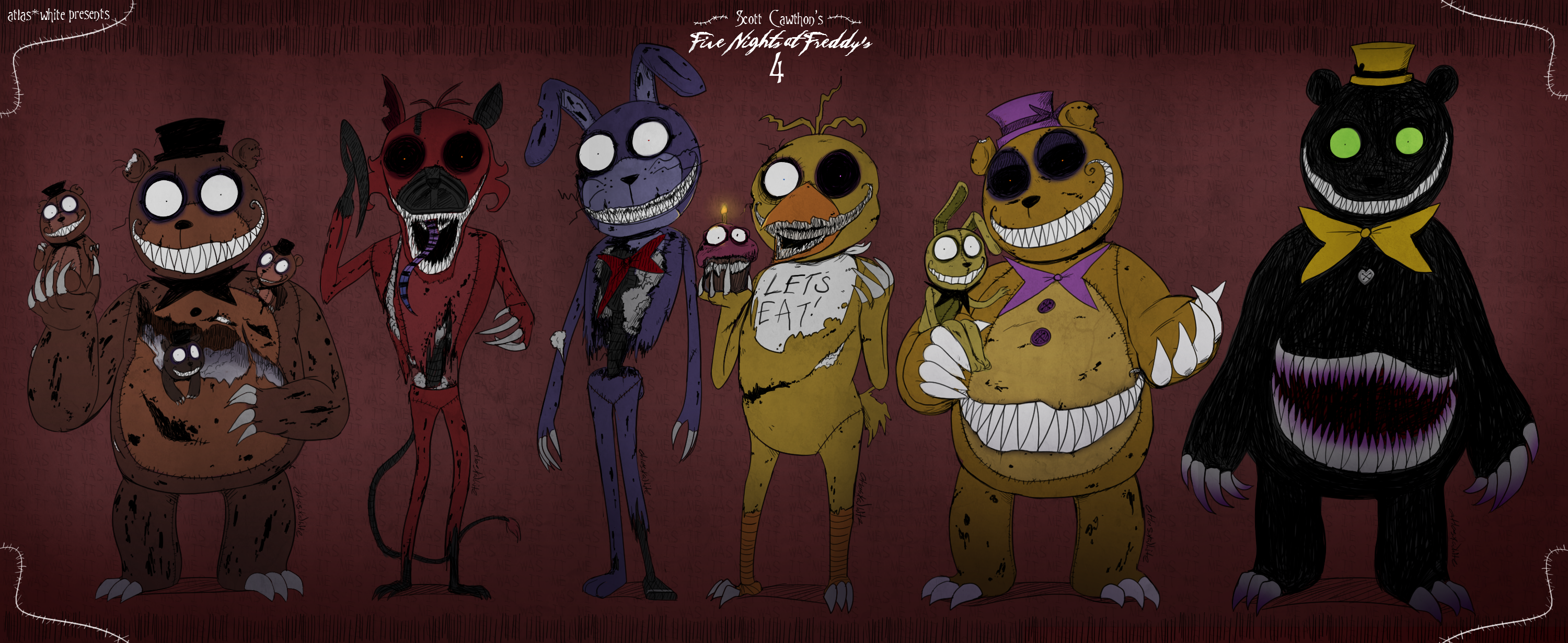 Five nights at freddy s 4 by atlas white on deviantart