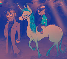 GF - A Unicorn Ride Through the Forest (Palette) by Atlas-White