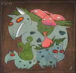 PKMN - Bulbasaur, Ivysaur, Venusaur by Atlas-White