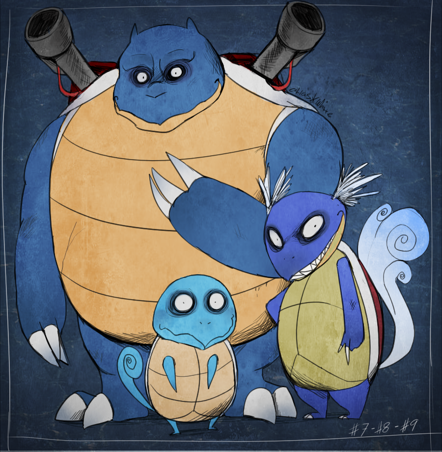 PKMN - Squirtle, Wartortle, Blastoise by Atlas-White on ...