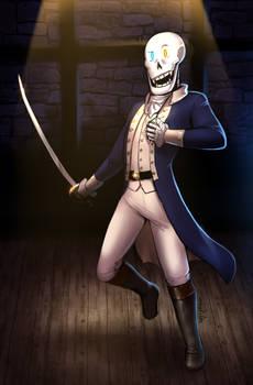 UT - Papyrus, starring as Hamilton! (Commission)