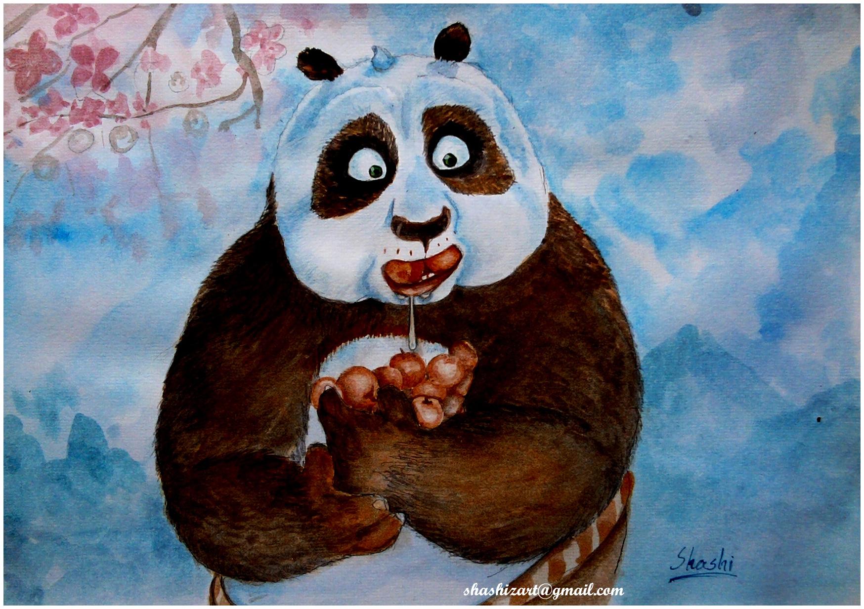 Kung Fu Panda Eating Kung Fu Panda by Shash...