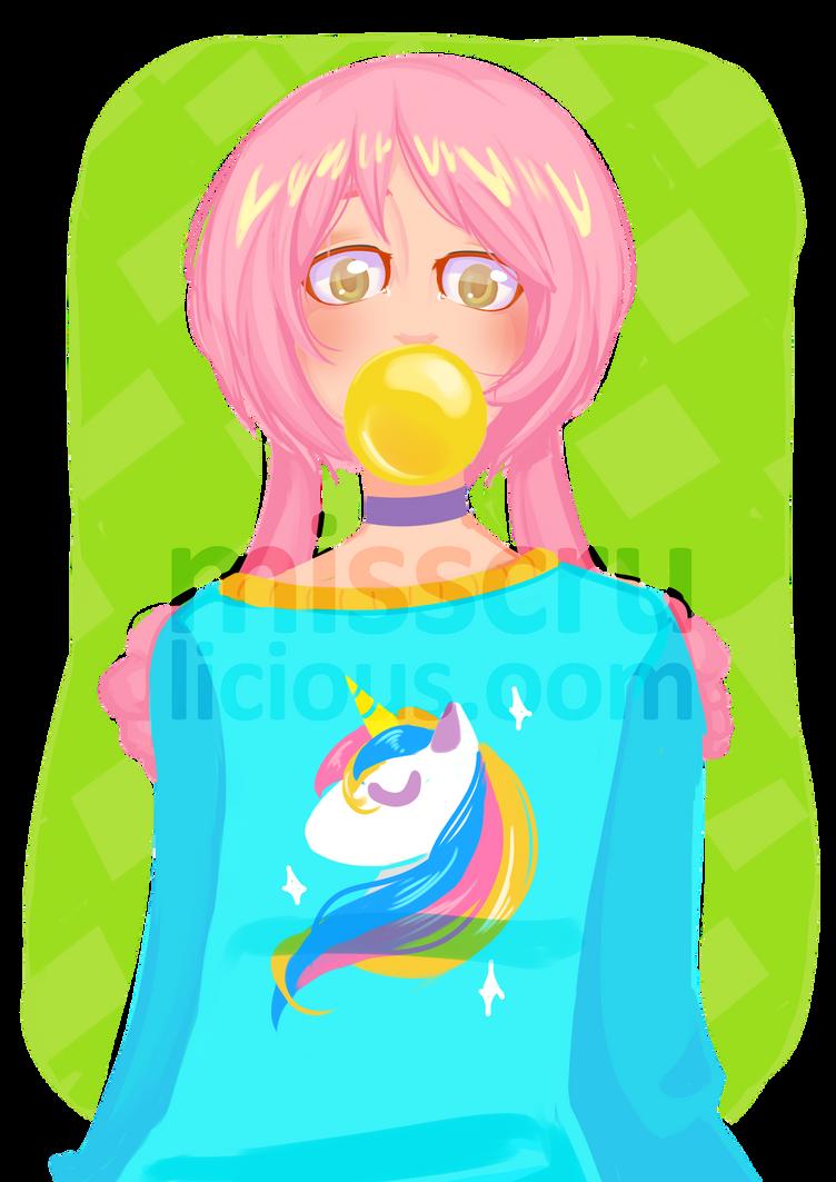 Bubblegum n Unicorns by misscrulicious