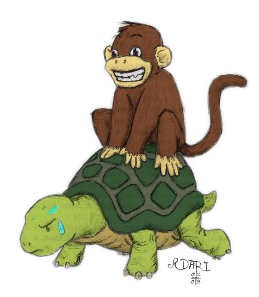 monkey and turtle