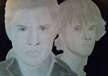 Jensen Ackles and Jared Padalecki drawing by Dees4life