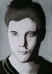 Jensen Ackles, charcoal