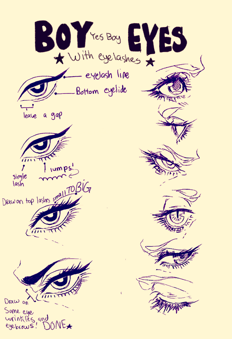 How To Draw Anime Eyes Closed For Boys