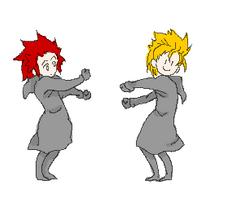 Demyx and Axel dance by animegirl000