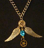 Steampunk Necklace 08 by PhoenixII