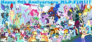 Happy 9th Anniversary MLP:FIM!!!