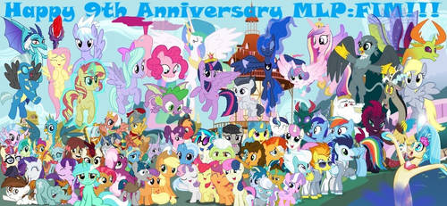 Happy 9th Anniversary MLP:FIM!!! by lachlancarr1996