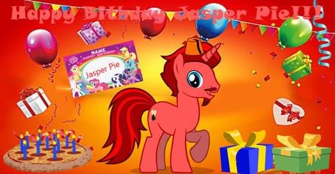 Happy Birthday Jasper Pie by lachlancarr1996
