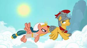 Flash Magnus flying with Somnambula
