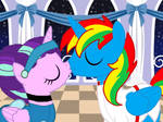 Prince Shield and Cinderglimmer kiss