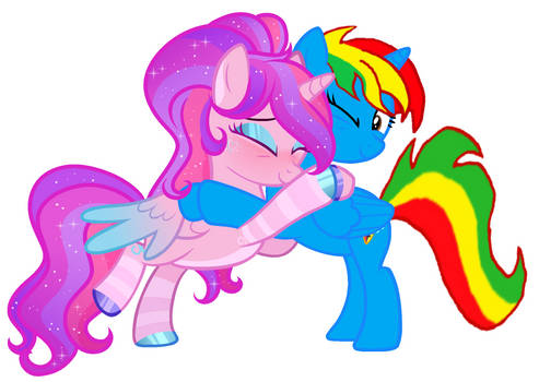 Royal Strength hugging Starflight Sparkle