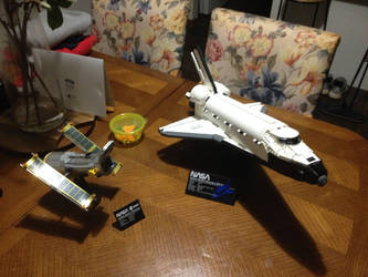 My Lego Space Shuttle Discovery and Satellite set