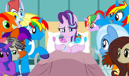 Shield Wing and Starlight's new twin babies