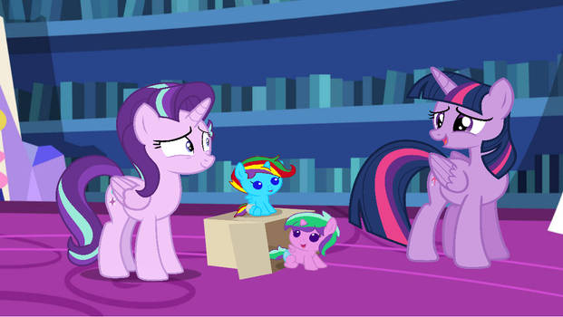 Twilight Sparkle here to see the twins
