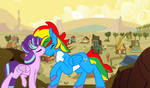 Kiss for Shield Wing outside Appleloosa by lachlancarr1996