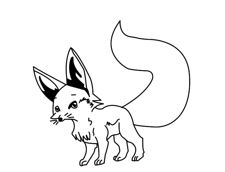 Line Drawing Fox : Fennec fox line art by cbon on deviantart