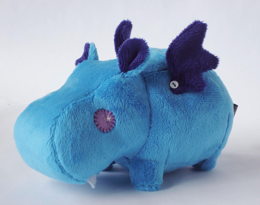 Blue Vampire Hippo by Pwyllo