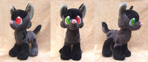 Custom Gray and Black Wolf Plush Commission