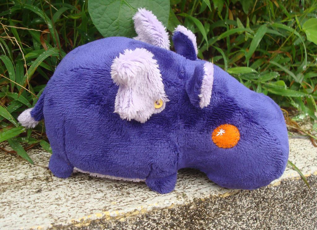 Purple Magic Hippo by Pwyllo