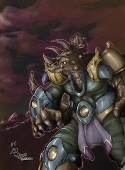 Triceratops Warrior (OC)