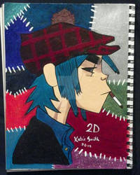 2ed 2D of Gorillaz Nail Polish art phase 2
