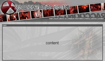 raccoon city tours site design by chard03