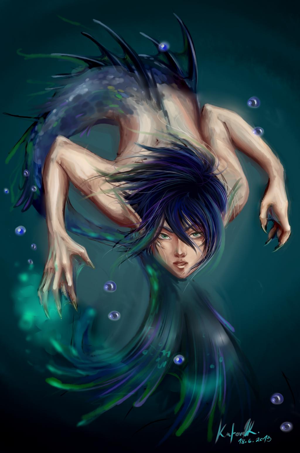 Nickolai Paanee Merman__rin_king_of_the_oceans_by_asano_nee-d69l964