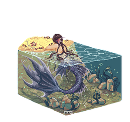 Pixel merman