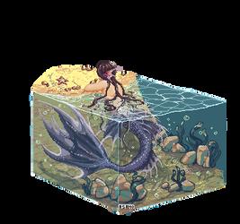Pixel merman by Asano-nee