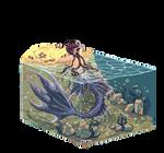 Pixel merman
